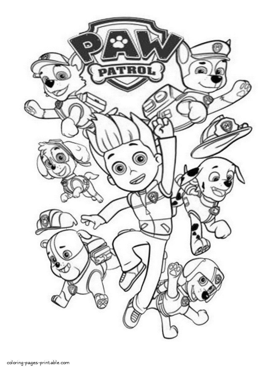 23 Free Printable Paw Patrol Coloring Pages Pictures Free Coloring