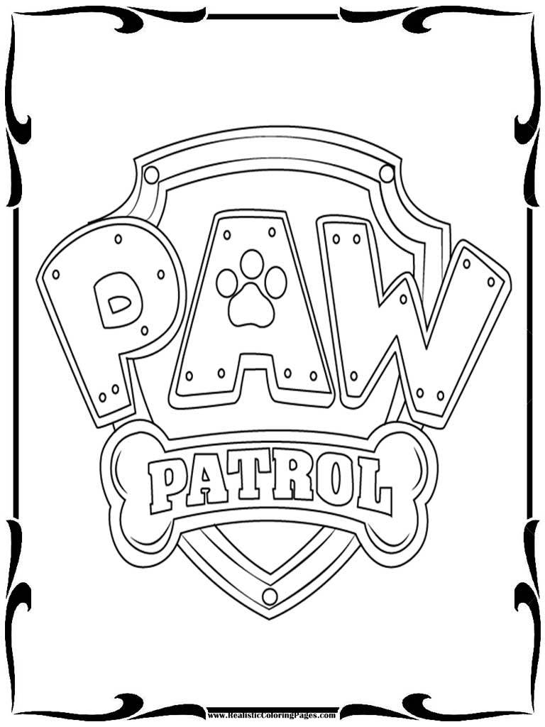 free printable paw patrol coloring pages - paw patrol badges coloring pages