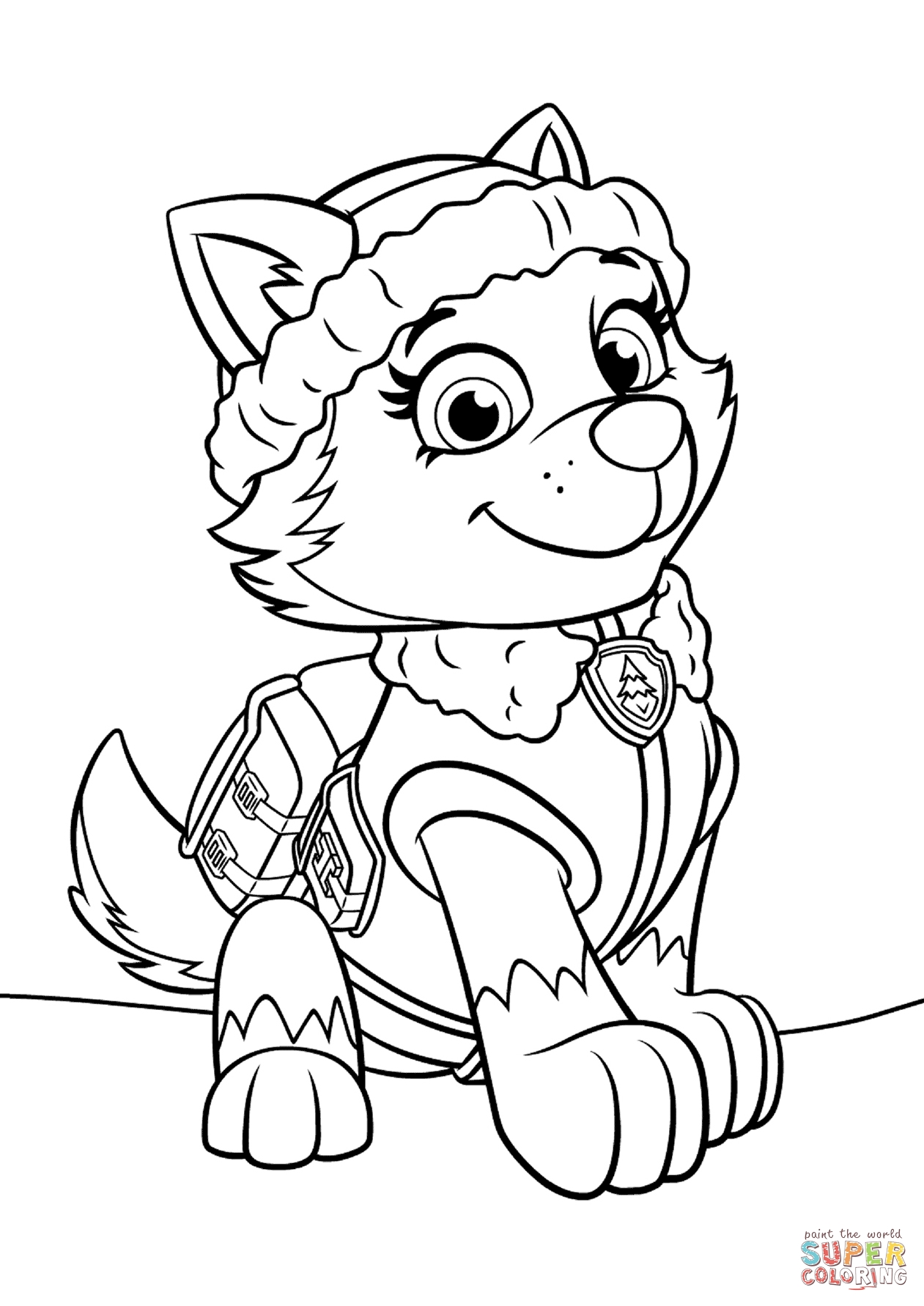 free printable paw patrol coloring pages - paw patrol everest