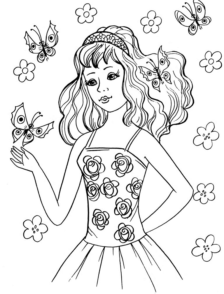 free printable princess coloring pages - princess coloring pages for girls