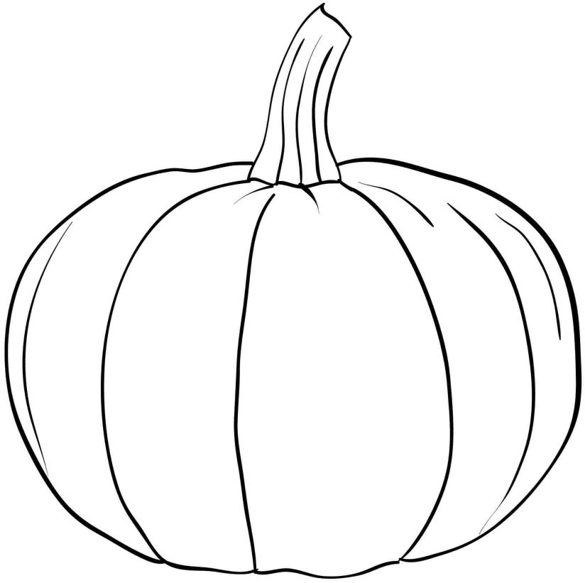 free printable pumpkin coloring pages - 5801