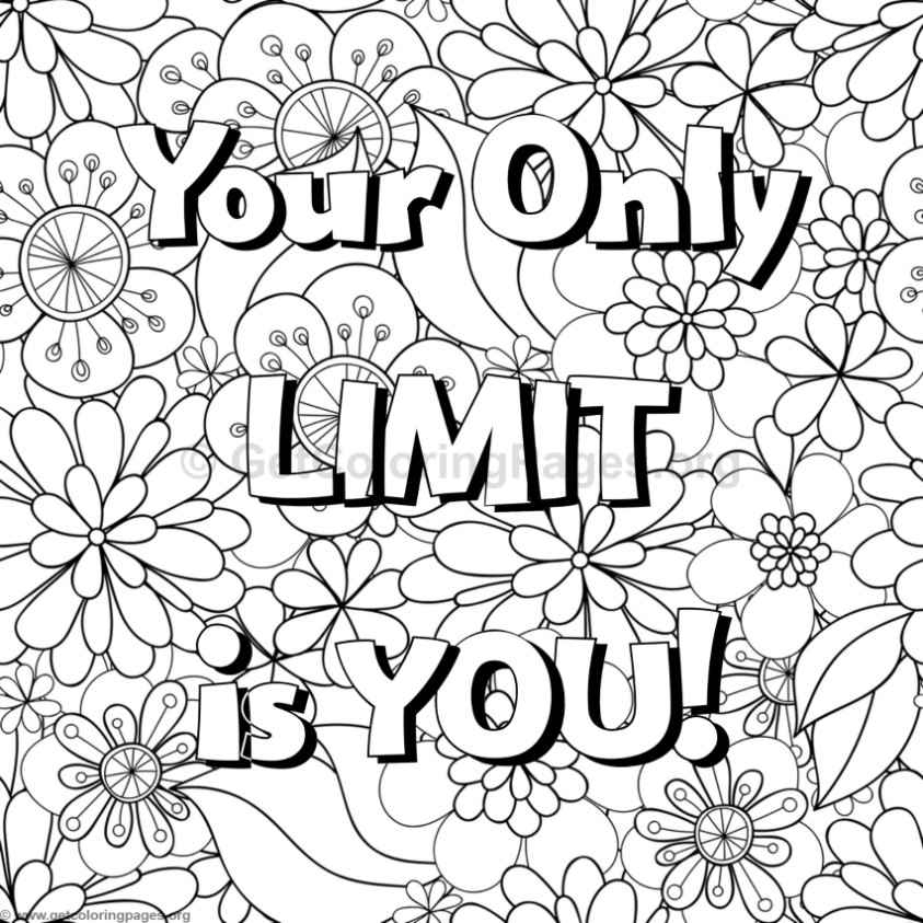 free printable quote coloring pages for adults - 8245