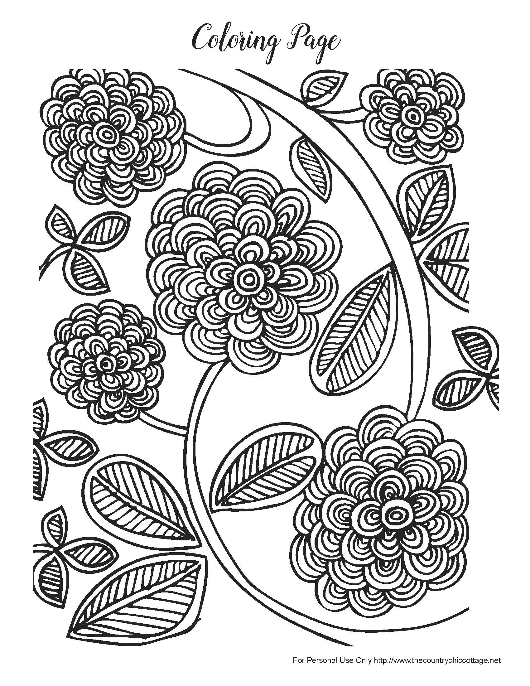 free printable spring coloring pages for adults - free spring coloring pages for adults