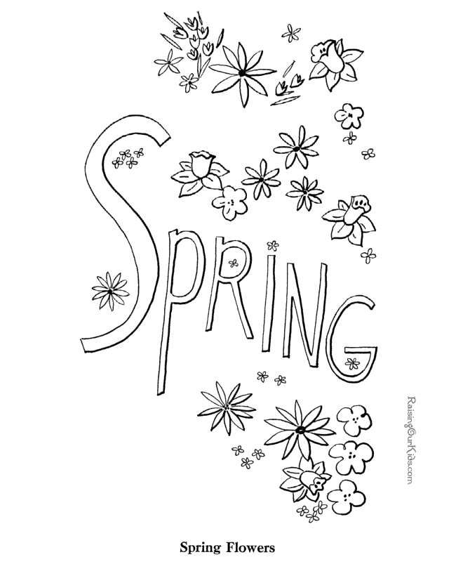 free printable spring coloring pages - 001 spring coloring pages