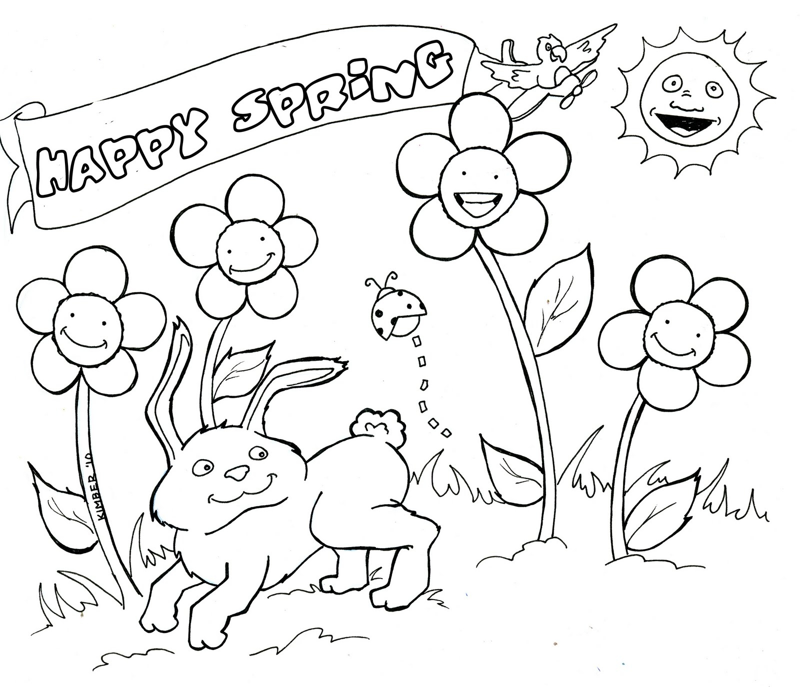 free printable spring coloring pages - spring coloring pages 145