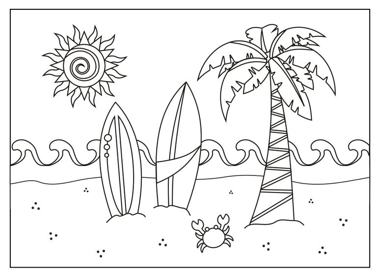Free Printable Summer Coloring Pages - 237 Free Printable Summer Coloring Pages for Kids