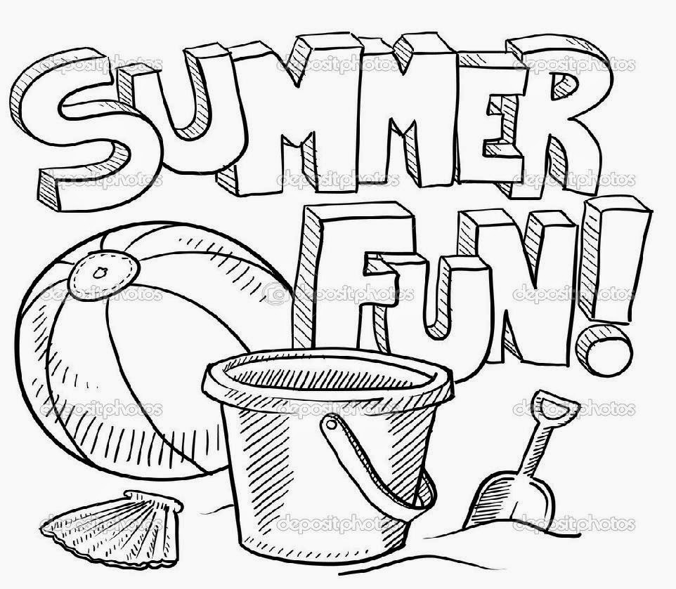 free printable summer coloring pages - summer coloring sheets