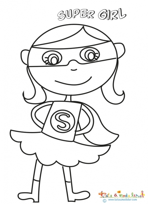 free printable superhero coloring pages - coloriage fille