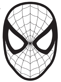 free printable superhero coloring pages - elf shelf spiderman mask