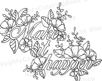 free printable swear word coloring pages - NaughtyColoringBook