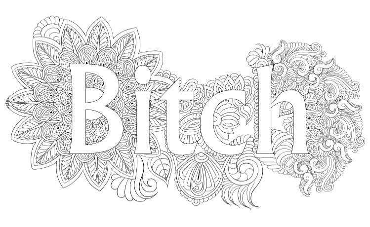 free printable swear word coloring pages - swear word coloring books