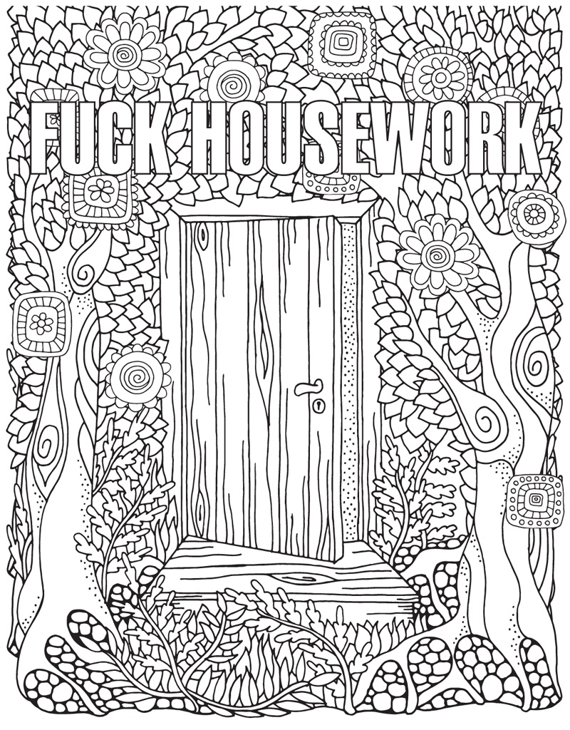 free printable swear word coloring pages -