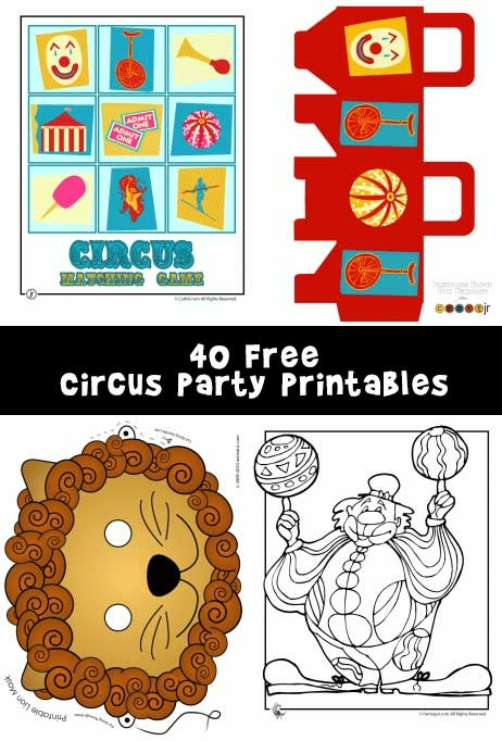 free printable thanksgiving coloring pages - circus party printables and circus crafts
