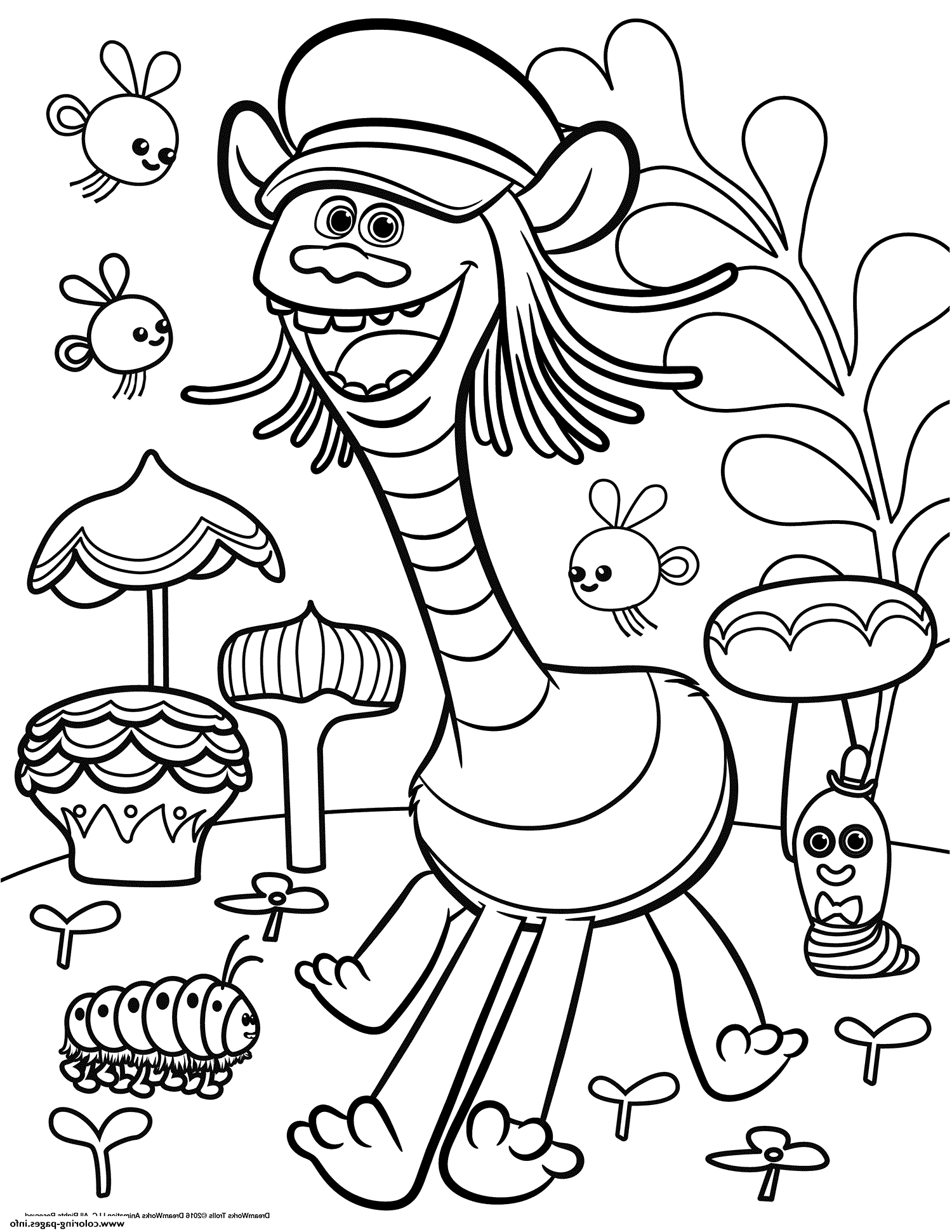 Free Printable Troll Coloring Pages - Trolls Coloring Pages that are Printable
