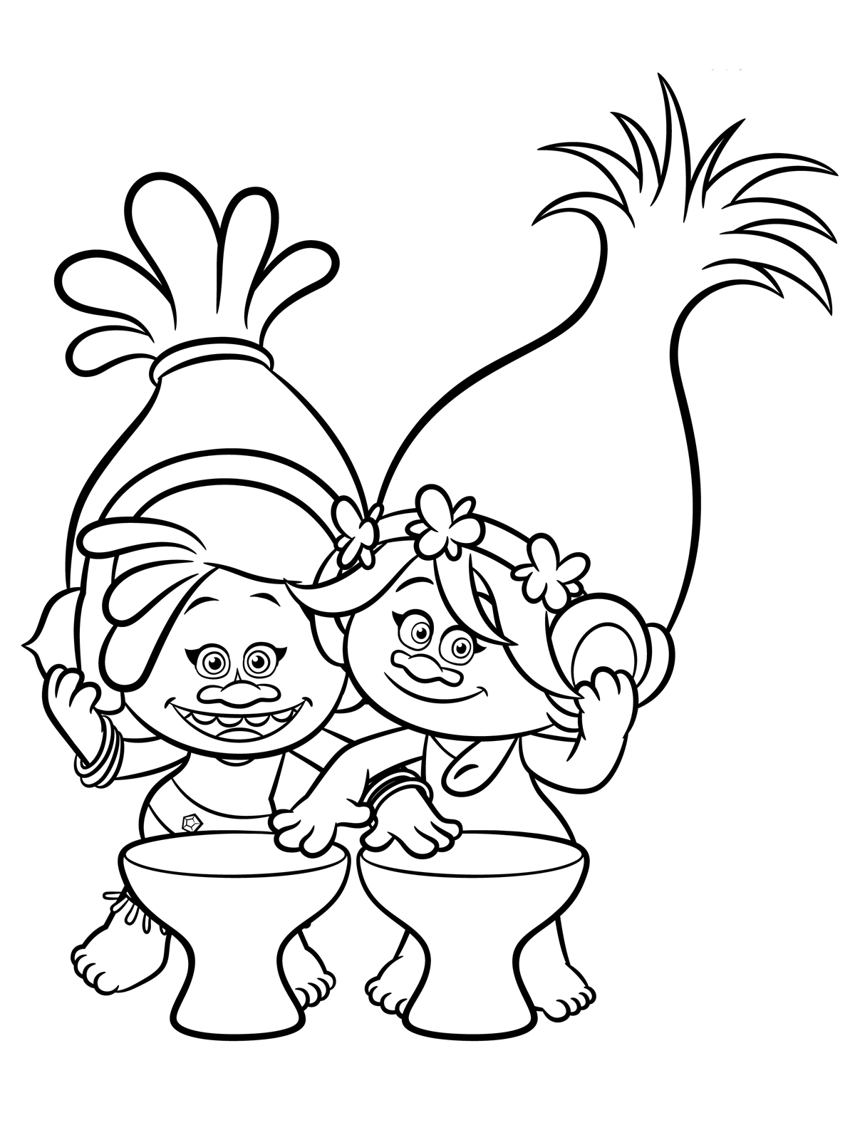 free printable troll coloring pages - trolls