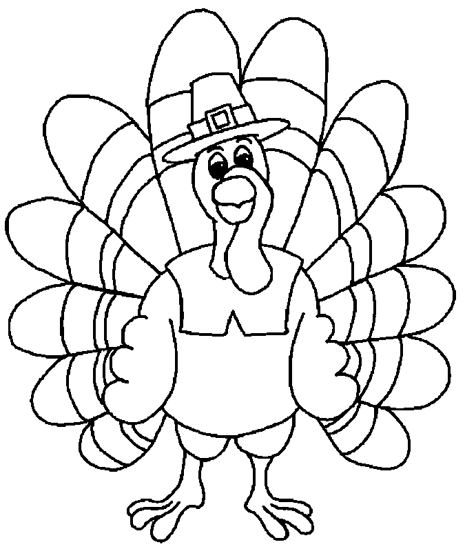 free printable turkey coloring pages - thanksgiving coloring pages
