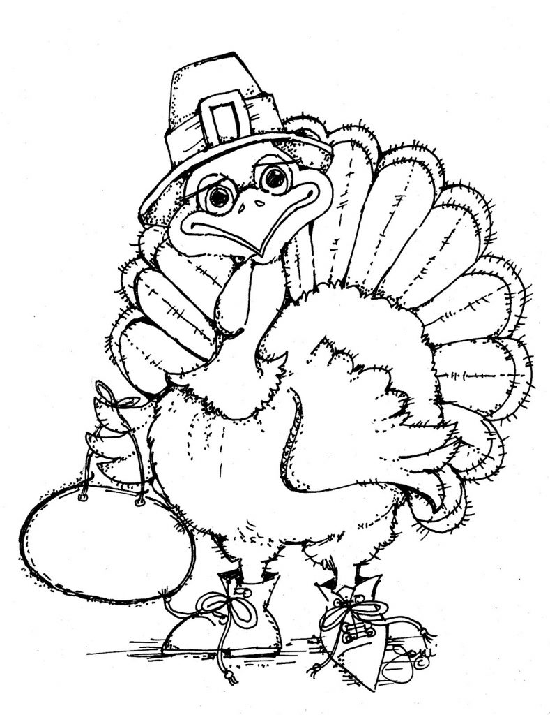 free printable turkey coloring pages turkey coloring pages - Printable Turkey Coloring Pages Free 2