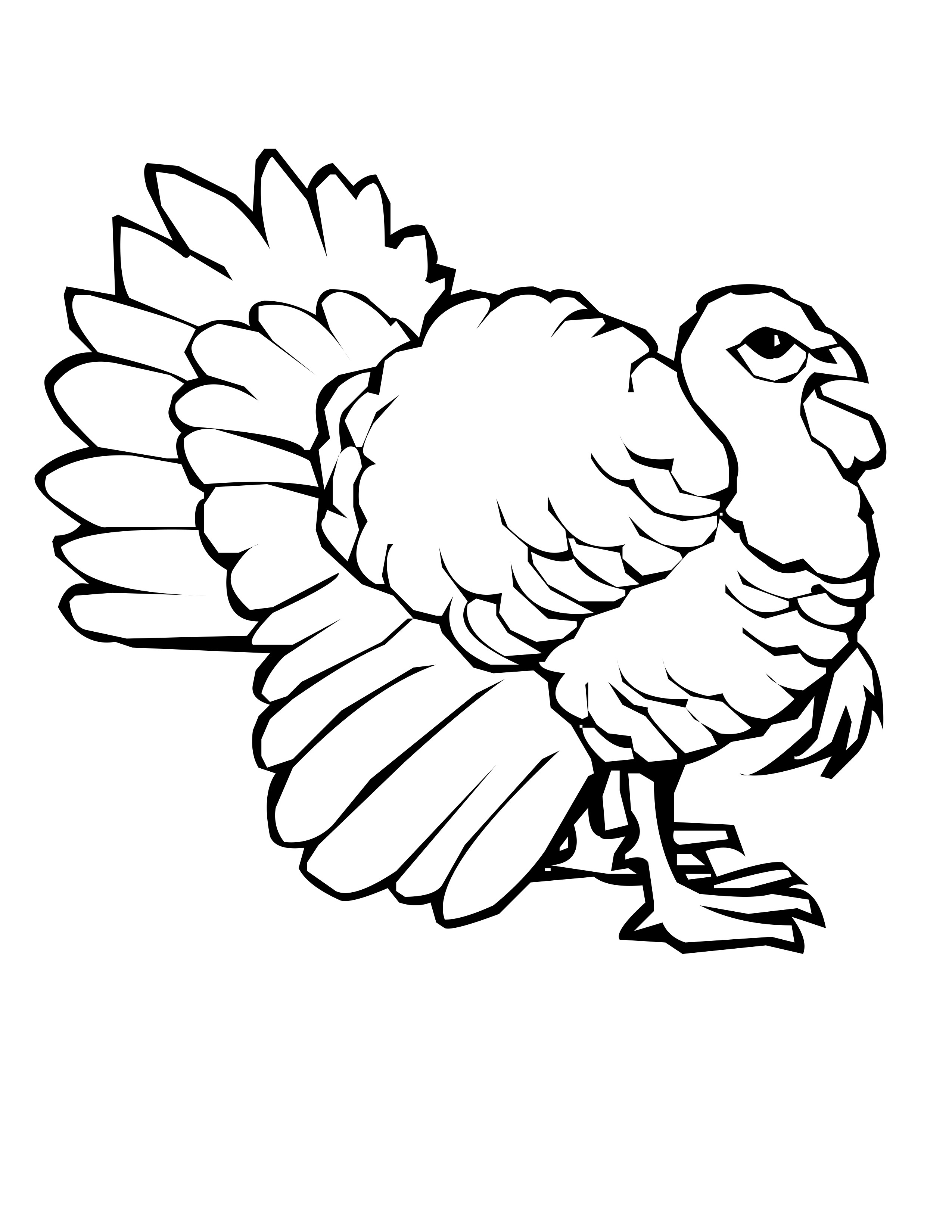 free printable turkey coloring pages - turkey coloring pages