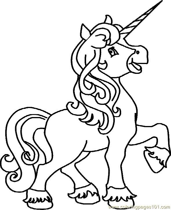 free printable unicorn coloring pages - Unicorn Coloring Page 21