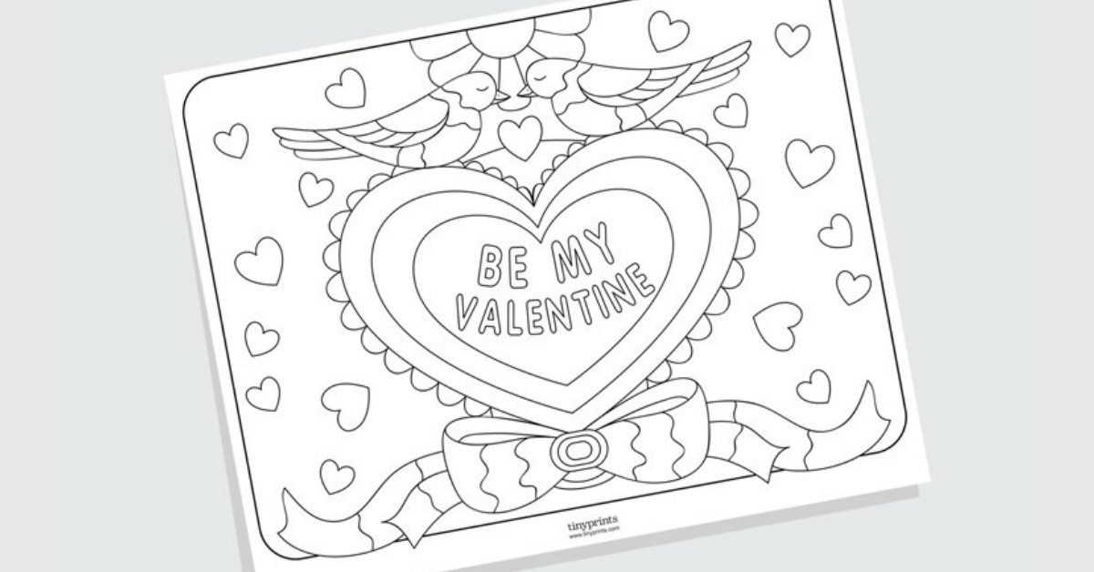 free printable valentines day coloring pages - free printable valentines day coloring pages