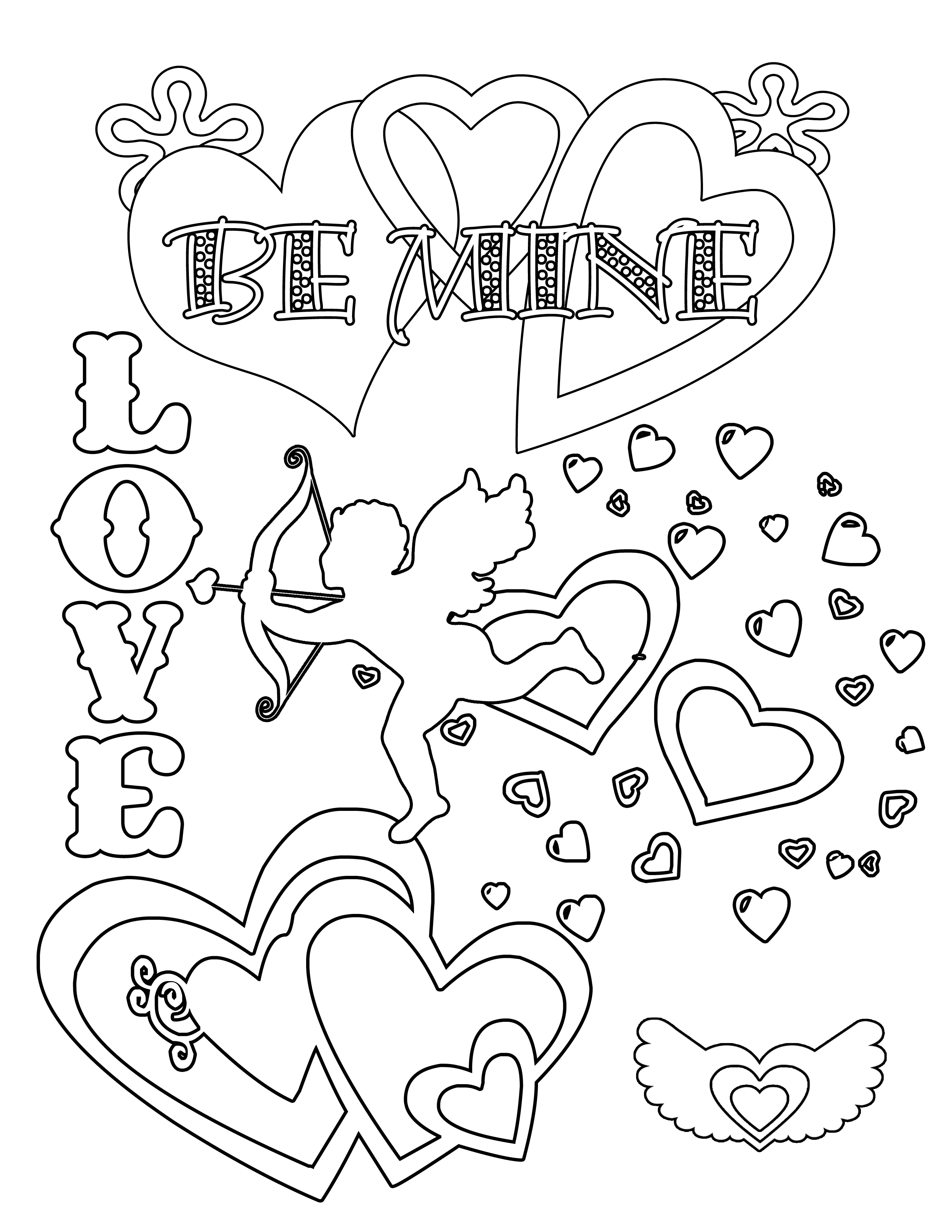 free printable valentines day coloring pages - free valentines day coloring pages and printables
