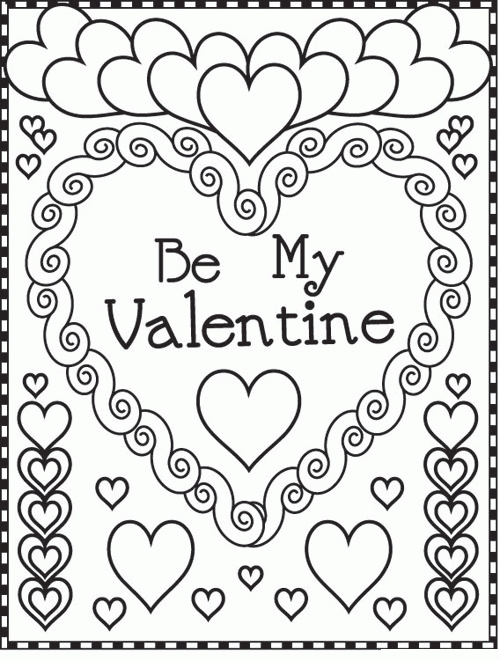 free printable valentines day coloring pages - valentines day coloring pages
