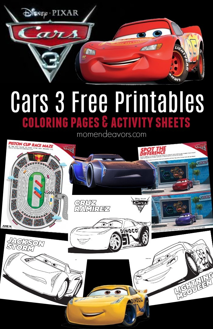 free pumpkin coloring pages - disney pixar cars 3 printable activities coloring pages