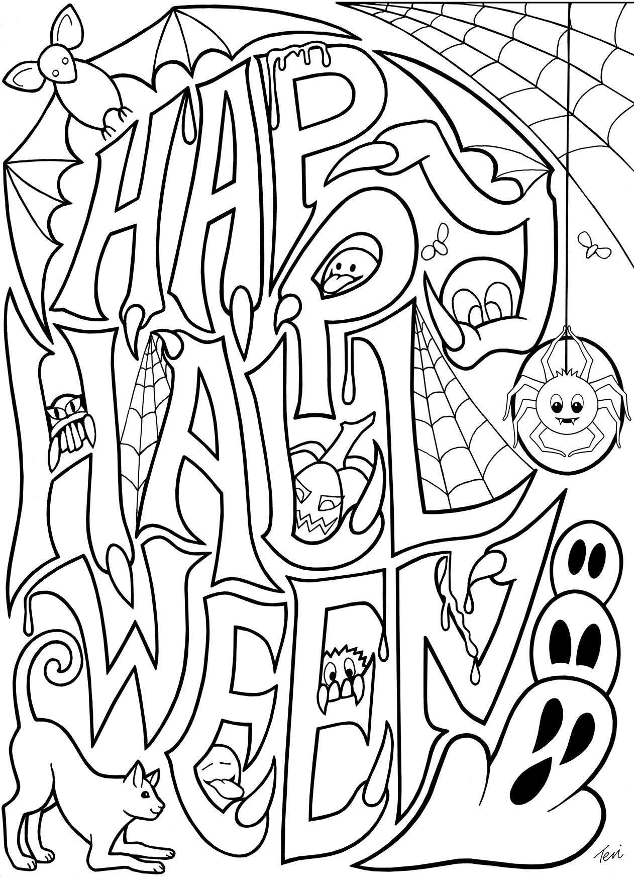 free pumpkin coloring pages - happy halloween coloring pictures happy halloween coloring pages for kids pumpkin printables free