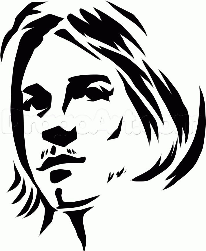 free pumpkin coloring pages - how to draw tribal kurt cobain