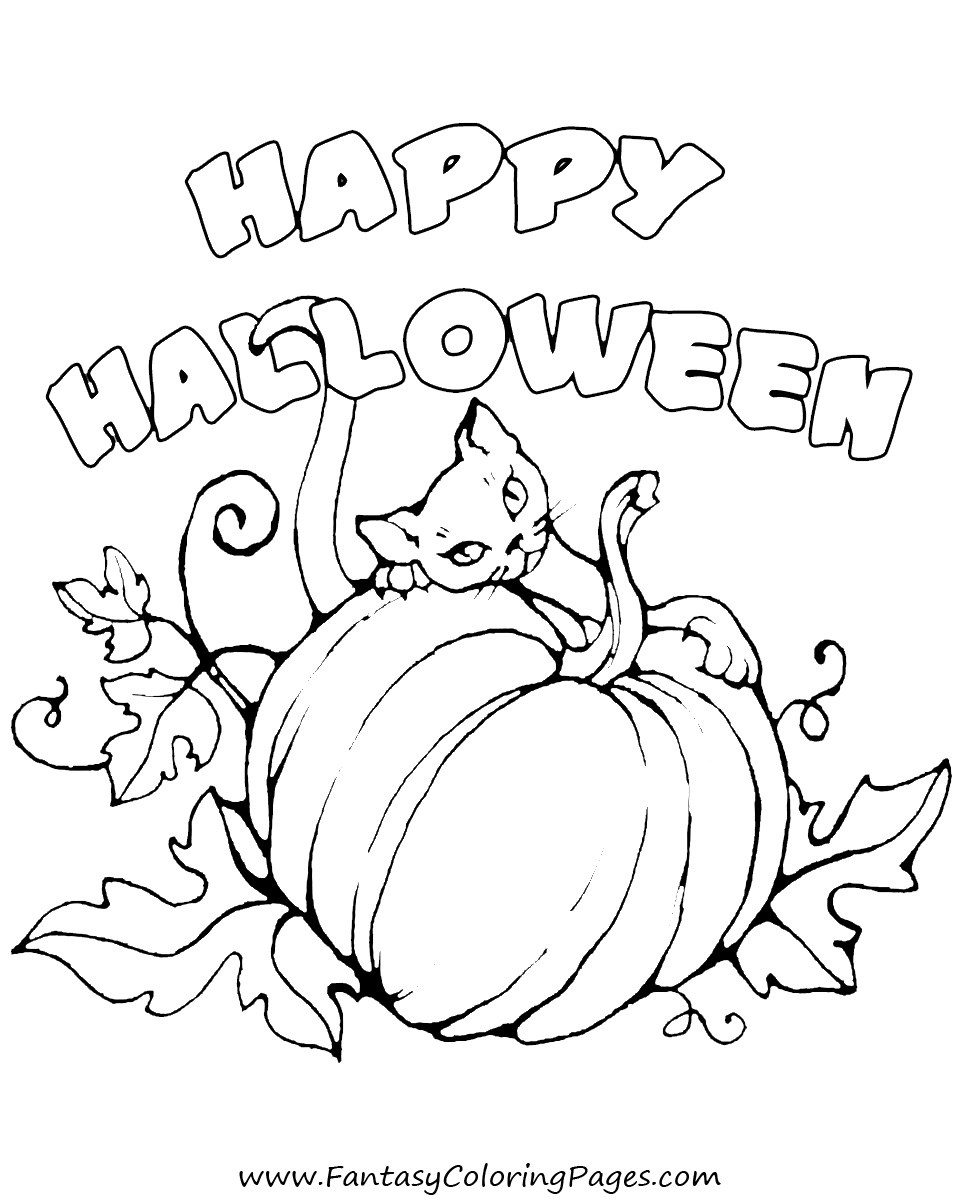 Free Pumpkin Coloring Pages - some Free Halloween Coloring Pages – Fantasy Coloring Pages