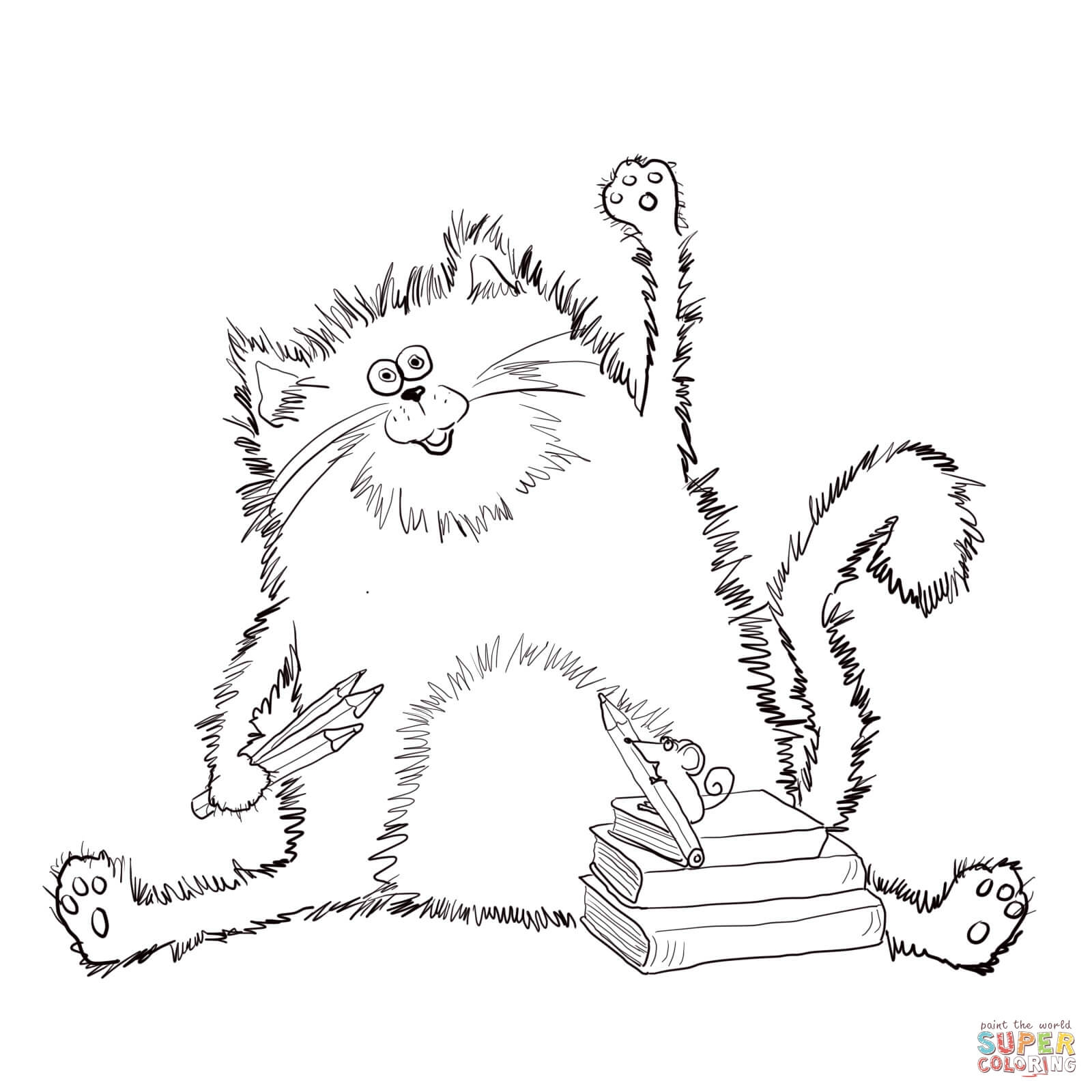 free pumpkin coloring pages - splat the cat