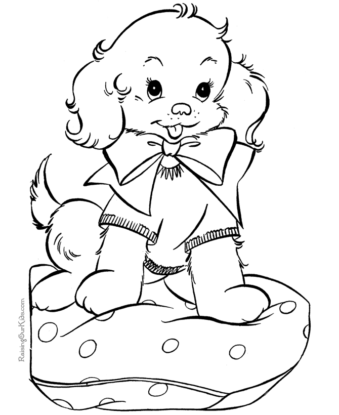 free puppy coloring pages - q=puppy