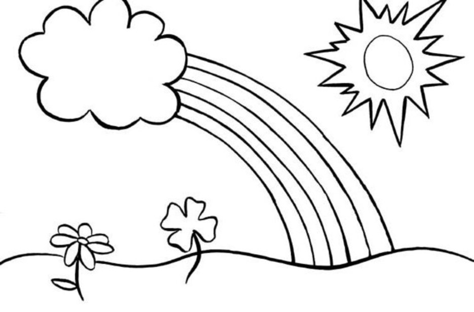 free rainbow coloring pages - rainbow coloring pages