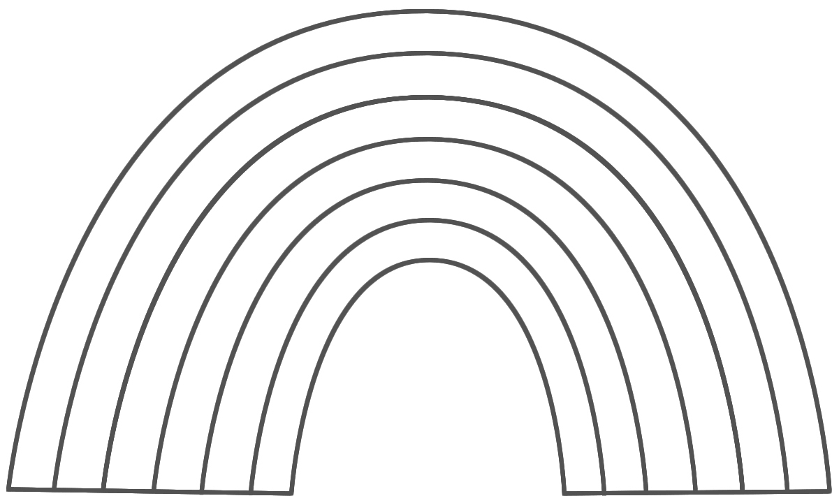 free rainbow coloring pages - r=rainbow pictures
