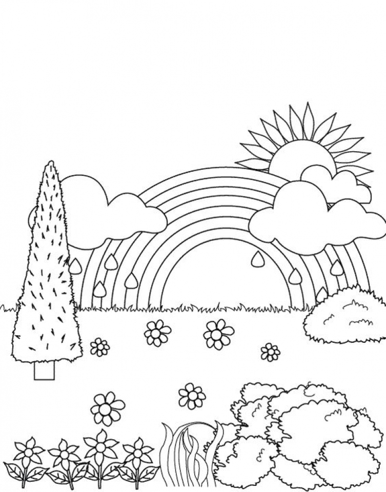 Free Rainbow Coloring Pages - Get This Rainbow Coloring Pages Free Printable Jcaj22