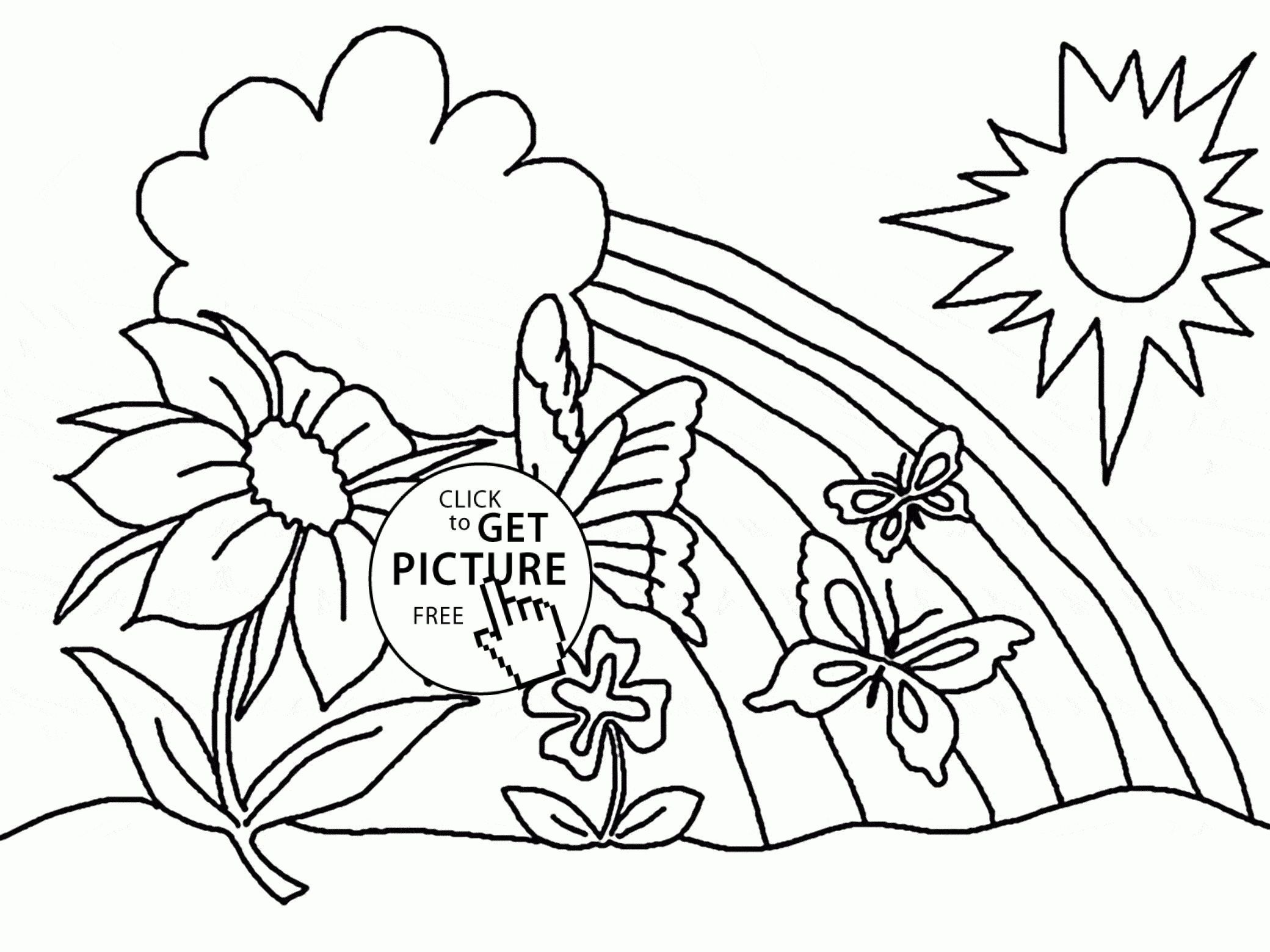 free rainbow coloring pages -