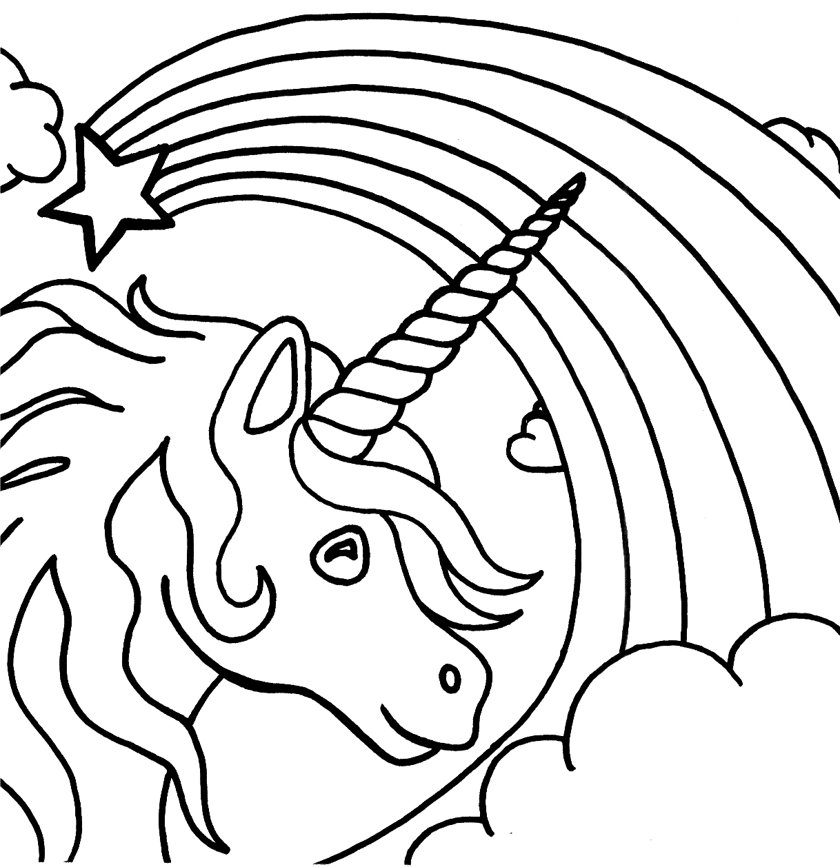 free rainbow coloring pages - 1294