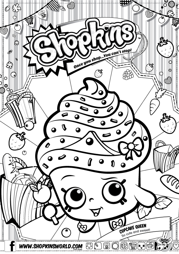 free shopkins coloring pages - 3857