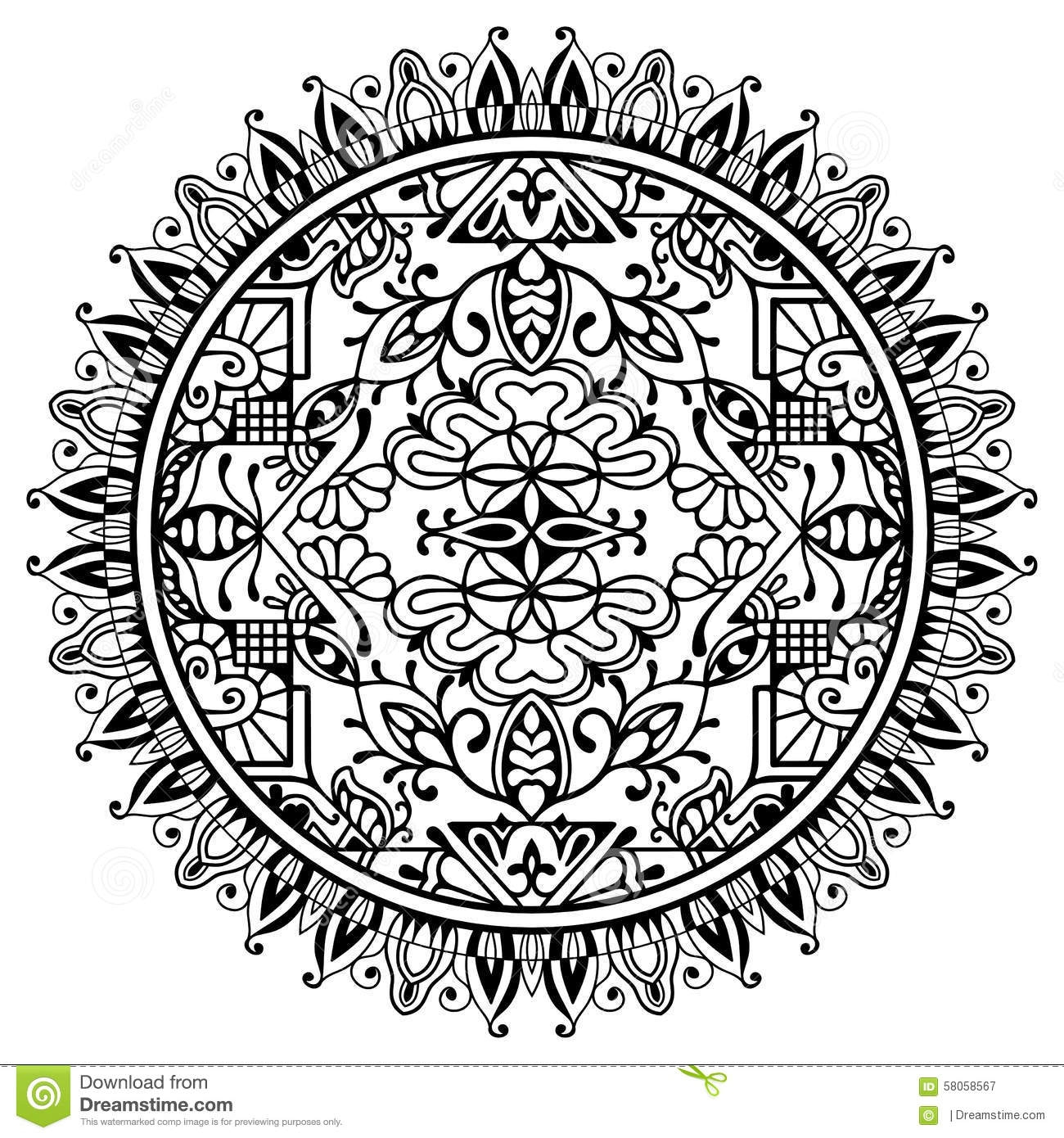 free spring coloring pages - stock photo black white mandala tribal ethnic ornament vector islamic arabic indian pattern image