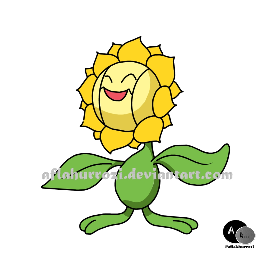 free spring coloring pages - pokemon sunflora