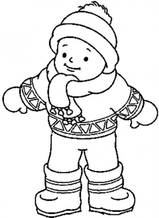 free spring coloring pages - winter clothes pictures for kids