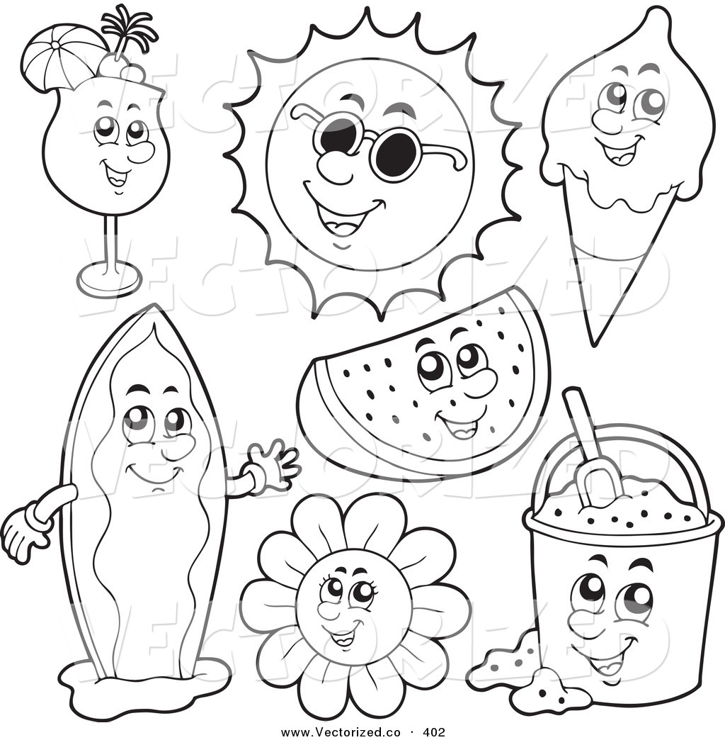 free summer coloring pages - summer coloring pages 217