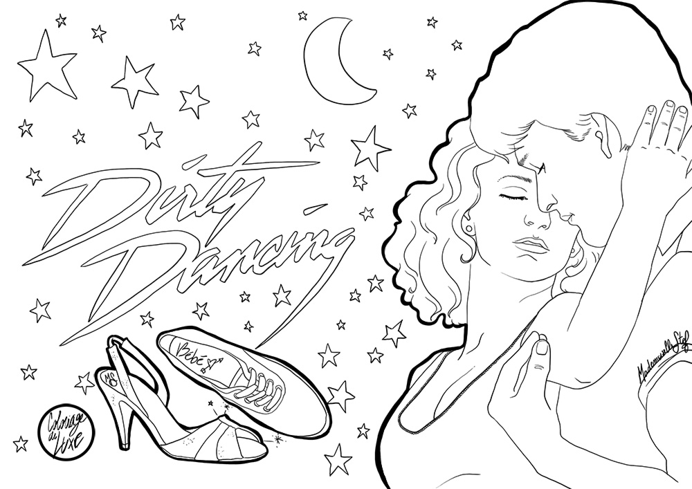 Free Swear Word Coloring Pages - Coloriage Dirty Dancing à Imprimer