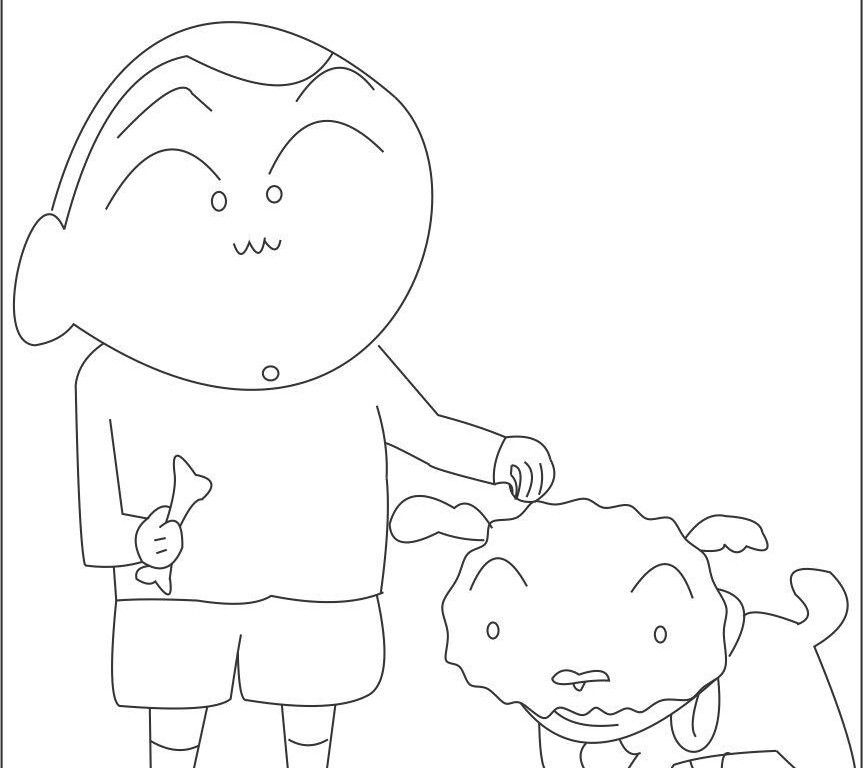 free trolls coloring pages - shin chan coloring pages
