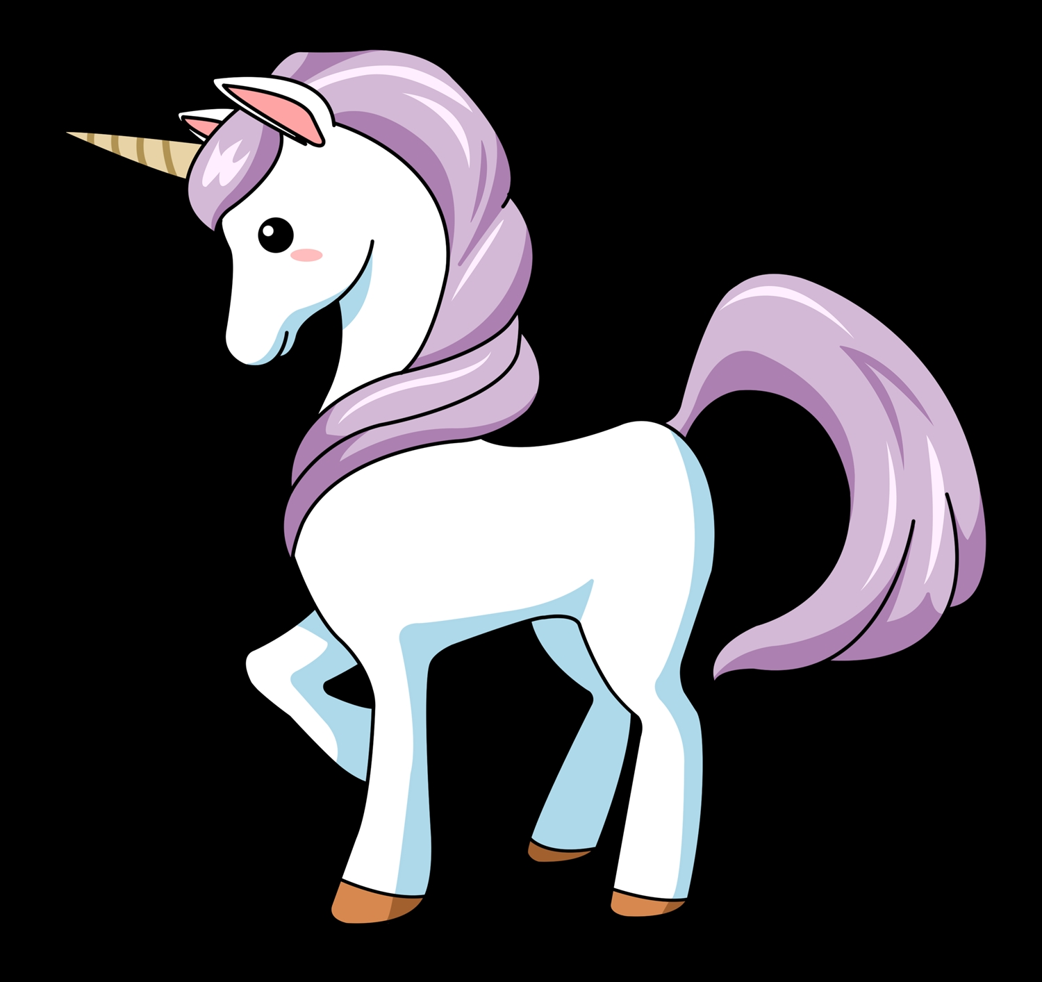 free unicorn coloring pages - cartoon unicorn clipart