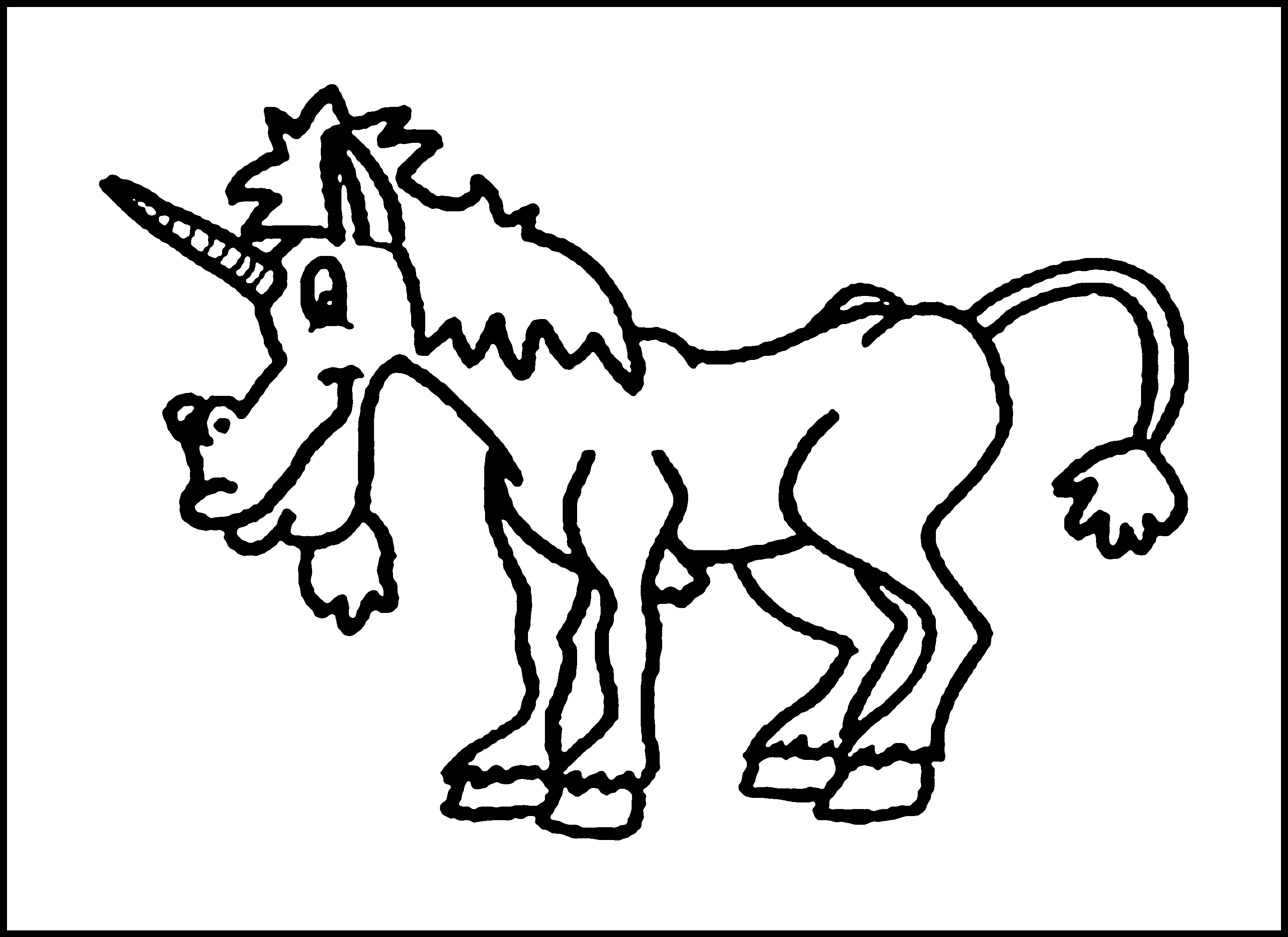 free unicorn coloring pages - 6