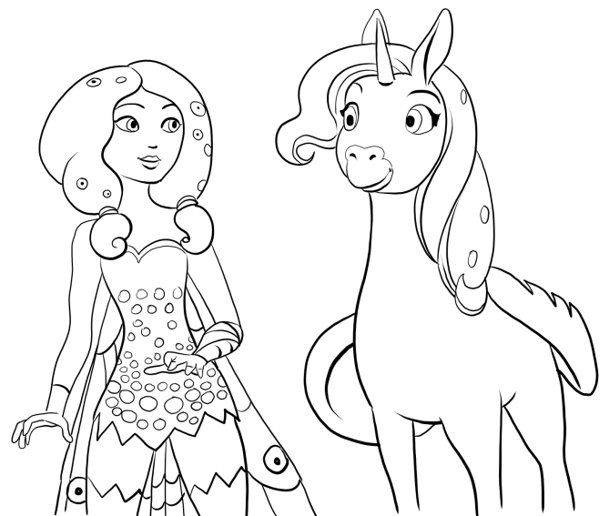 free unicorn coloring pages - mia and me coloring pages