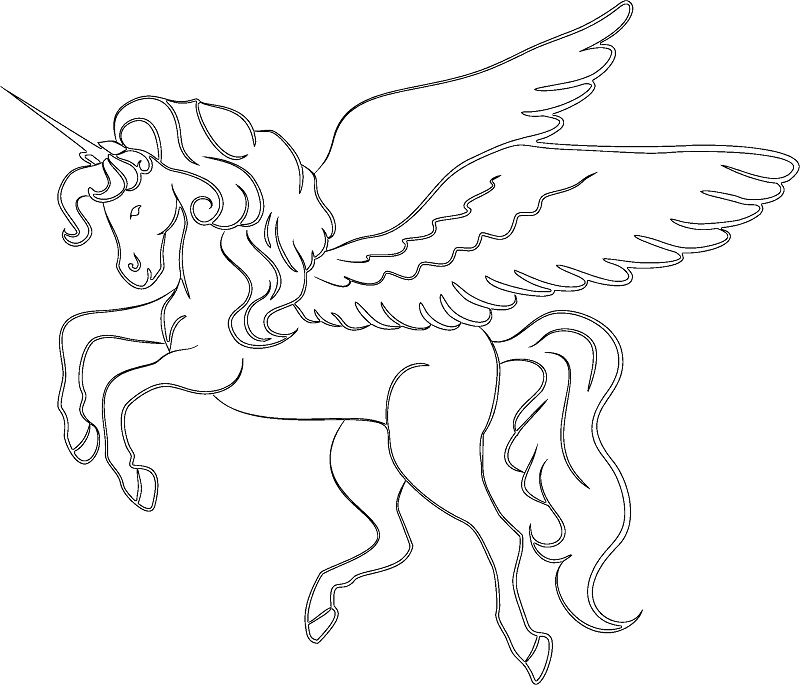 free unicorn coloring pages - unicorn coloring pages