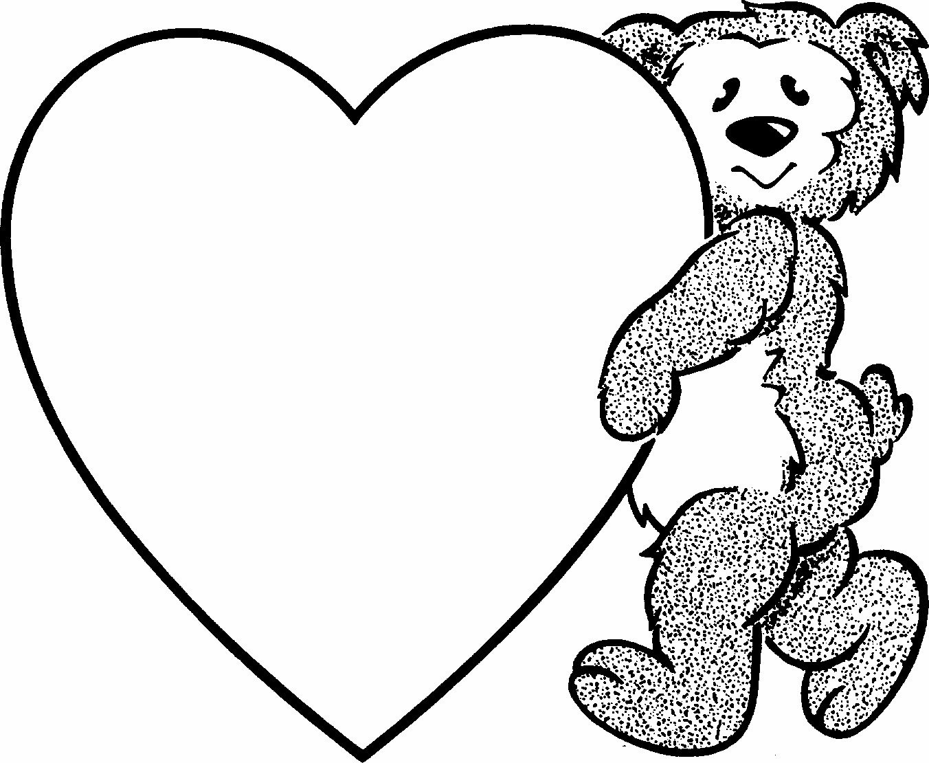 free valentine coloring pages - valentine coloring pages
