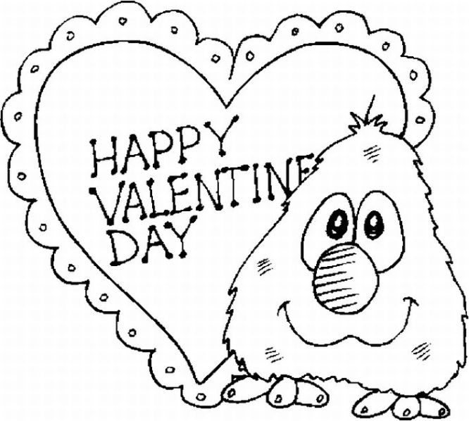 free valentine coloring pages - free printable valentine day coloring